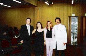 Dr. Wilton , Célia, Cleide e Dr. Sobrado